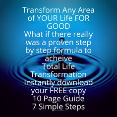 Free 10 page guide with 7 simple steps to achieve Total life Transformation. Get To Know Me, Getting To Know, The Tipping Point, Abundant Life, Be A Better Person, Business Opportunities, Opportunity, Simple, Free