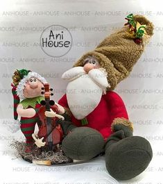 Christmas Clay, Christmas Fabric, Christmas Patterns, Cornish Pixie, Fabric Decor, Beautiful Dolls, Fun Crafts, Christmas Decorations, Santa