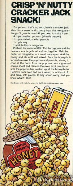 Crisp 'n' Nutty Cracker Jack Snack (1981) - Click Americana