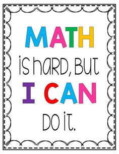 Help your students develop a growth mindset in math with these growth mindset posters. This set includes 20 posters with positive quotes and messages that will help your students feel good about math. Help Teaching, Teaching Math, Teaching Ideas, Positive Messages, Positive Quotes, Growth Mindset Posters, Math Quotes, 5th Grade Math, Student Reading
