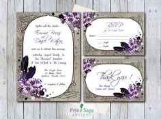 Items similar to Gothic Wedding Invitation Template, Printable Vintage Invitation Set, Floral Wedding Invitation Suite, Feather DIY Dark Invitation, PDF on Etsy Gothic Wedding Invitations, Vintage Invitations, Printable Wedding Invitations, Wedding Invitation Suite, Invitation Set, Gothic Halloween, Thank You Cards, Wedding Colors, Wedding Inspiration