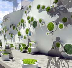 The Symbiotic Green Wall Makes for an Eco-Friendly Barrier #architecture trendhunter.com