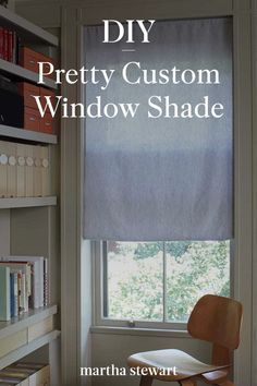 Easily upgrade your windows with our tutorial for a simple handmade window shade that is perfect for the kitchen or bathroom. Follow our full tutorial for this DIY indoor window treatment. #marthastewart #homeimprovementideas #easyhomedecorideas #details #homedecorinspiration Diy Home Decor Projects, Easy Home Decor, Custom Windows, Home Decor Inspiration, Window Treatments, Home Improvement, Indoor, Shades, Bathroom