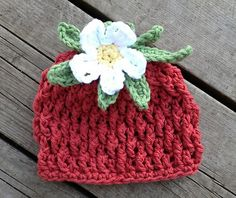 """This pattern is also available as a set with the matching cocoon and diaper cover, at a discount. See """"Berrylicious Beanie, Diaper Cover, & Cocoon Set"""" above."""