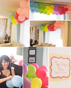 Storybook Princess Party - DIY Balloon Rainbow, Children's Party Idea @thebusybudgetingmama