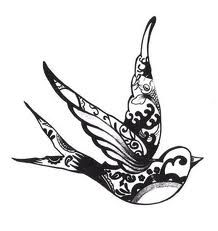 a bunch of different swallow tattoos