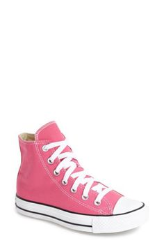 Women's Converse Chuck Taylor All Star' Seasonal' High Top Sneaker, Size 5 M - Pink