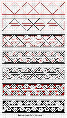 Voici un motif d'art celtique fait étape par étape. / Here is a key pattern Celtic art done step by step