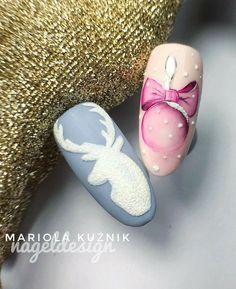 Weihnachten - Schönheit - Famous Last Words Xmas Nails, Holiday Nails, Christmas Nails, Xmas Nail Designs, Toe Nail Designs, Winter Nail Art, Winter Nails, Pretty Nails, Gorgeous Nails