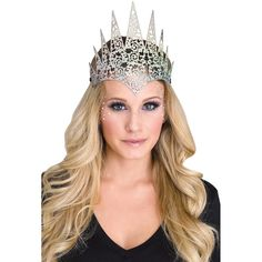Glenda The Good Witch, King And Queen Crowns, Diy Crown, Royal Look, Magical Jewelry, Fun World, Holographic Glitter, Costume Shop, Crown Royal