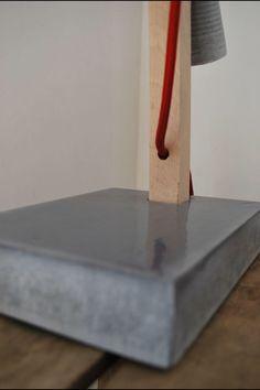 Pied béton luminaire Wood & Concrete