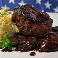 Filet Mignon with Mushroom-Cabernet Gravy Recipe | Yummly