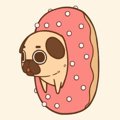 Donuts before being pug-ified= ADORABLE!!!!!! Donuts after being pug-ified= SO ADORABLE YOU JUST CANT STAND IT!!!!!!!!!!!!!!!!!!!!