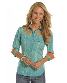 25b15852d9d0e Rock   Roll Cowgirl® Ladies  Long Sleeve Snap Shirt - Fort Brands