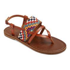Women's Sonora Thong Sandals - Cognac (Red) 6