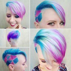 360° view of my cotton candy hair.  #pixiehair #pixienation #pixie #shorthair #shorthairdontcare #pixiecut #girlswithshorthair #mypixiecutissofiidntitsmegabits #pixie360 #nothingbutpixies #megabits #cottonsuesalon #annikahair #mermaidhair #cottoncandyhair #electricpalette #UrbanDecay #pinkandbluehair #pinkandbluepixie #unicornhair #harleyquinn #harleyquinnhair #cheveuxoholic #colorfulhair #lifeistooshortforboringhair