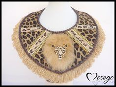 Collar NAMIBIA LEOPARDO BEIGE #necklace #collar #handmade #exclusive #leather #animalprint #fashion #fallwinter