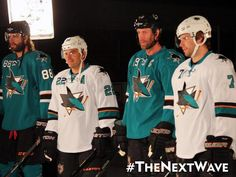 The San Jose Sharks will have new uniforms this year. What do you think of the changes? They would look great in anything!
