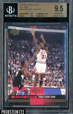 31be6ce72e6081 1993-94 Upper Deck MR. June  MJ5 Michael Jordan HOF BGS 9.5 GEM MINT   MichaelJordan  Sportscards