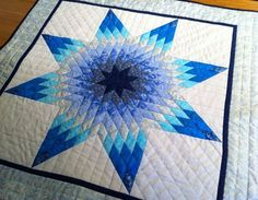 Rainy Day Star by Lorraine Olsen, a miniature quilt in her book ... : blazing star quilt - Adamdwight.com
