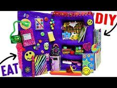 DIY Edible School Locker   EAT Locker Decor, Combination Lock, Books & Back To School Supplies! - YouTube