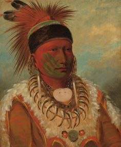 The White Cloud, Head Chief of the Iowas by George Catlin, 1844-45