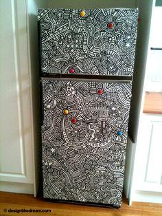 coloring book zentangle fridge