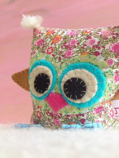 Lavender fabric owl.  Hand made  by BUBOT (anatbubot)