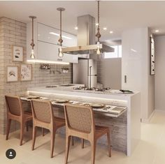 Most Cozy Kitchen Room Decoration Design You May Love - Page 36 of 70 - Diaror Fashion Cozy Kitchen, Kitchen Chairs, Kitchen Decor, Home Design Magazines, Cuisines Design, Interior Design Kitchen, Home Kitchens, Kitchen Remodel, Sweet Home