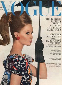 vogue covers from the 1960s | Sixties model Celia Hammond on the cover of July 1963 US Vogue ...