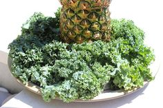Perfect for tropical-themed parties, this palm tree serving tray and centerpiece is made of pineapples stacked on top of each other. Palm Tree Fruit, Pineapple Palm Tree, Pineapple Salsa, Palm Trees, Fruit Juice Recipes, Hawaiian Luau Party, Fruit Party, New Fruit, Fruit Arrangements