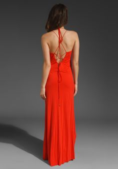 TOWNSEN Lace Up Maxi in Poppy