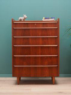 Chest Of Drawers Vintage Teak Teak Wood, Chest Of Drawers, Scandinavian Design, Vintage Designs, 1970s, Minimalist, Storage, Cavities, Dressers