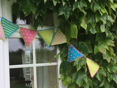 Kate Eastwood's glorious summer bunting is the perfect way to brighten up to your garden! There's nothing that shouts summer quite so much as a string of c