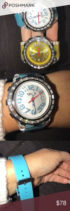 Selling this Drops Milano crystals embedded watch rubber band on Poshmark! My username is: rsveta. #shopmycloset #poshmark #fashion #shopping #style #forsale #Drops Milano #Accessories