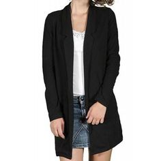 Sacou Dama VERO MODA Polly Sweat Black Blazer, Jackets, Women, Fashion, Down Jackets, Moda, Fashion Styles, Blazers, Fashion Illustrations