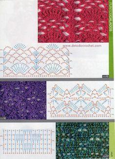 25 Patrones de Puntos Crochet / Para coleccionar | Todo crochet