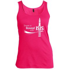 Share A Round Ladies Scoop Neck Tank Top