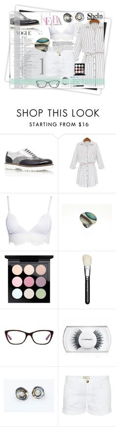 """""""White thing"""" by giampourasjewel ❤ liked on Polyvore featuring GALA, Hogan, WithChic, MAC Cosmetics, Vogue and Current/Elliott"""
