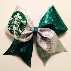 Starbucks+Cheer+Bow+by+cheerbowsandarrows+on+Etsy,+$15.00