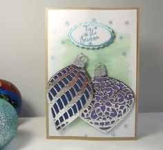 Embellished Ornaments cards by MaudieMaudie - Cards and Paper Crafts at Splitcoaststampers