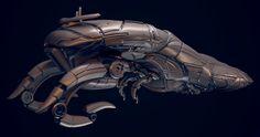 Mass Effect 3 Geth Cruiser, Max Ko on ArtStation at https://www.artstation.com/artwork/qJJez