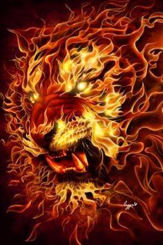 Анимация. Огненный тигр…