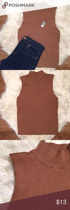 RUE21 || Ribbed Tank Rue21 • Ribbed Tank • Mock Turtle Neck • NWOT • Burnt Orange Rue21 Tops
