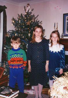 Christmas 1992 - Lindsey, Betsy, Alex