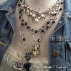 Vintage jewelry and soldered pendants