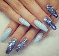 Imagem de nails, nail art, and blue