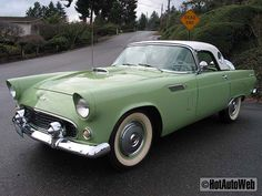 1956 Thunderbird with portholes and removable hard-top.  I would prefer a pale blue :)