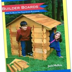 Builder Boards. Life-sized Lincoln Logs made from plywood. 5 sheets of plywood used to make a large set.