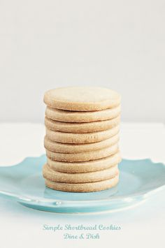 All you need is 3 ingredients to make these Simple Shortbread Cookies...the perfect companion to your tea!